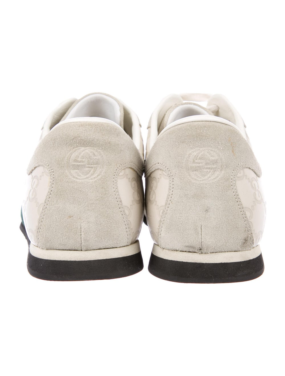 Gucci Web Accent Leather Sneakers - image 4