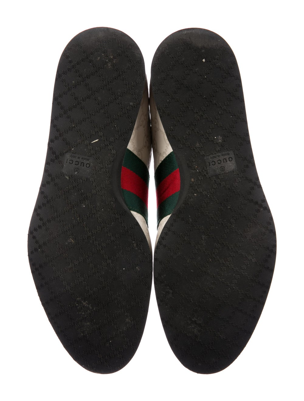 Gucci Web Accent Leather Sneakers - image 5