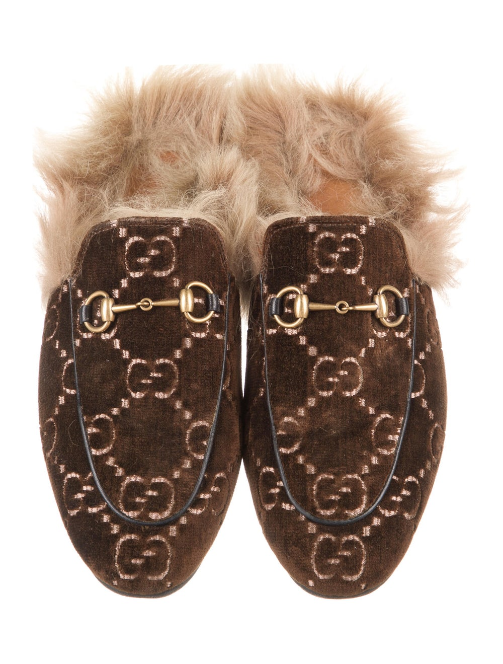 Gucci Horsebit Accent Patterned Mules Brown - image 3