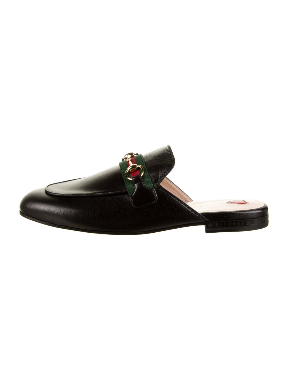 Gucci Princetown Web Accent Mules Black - image 1