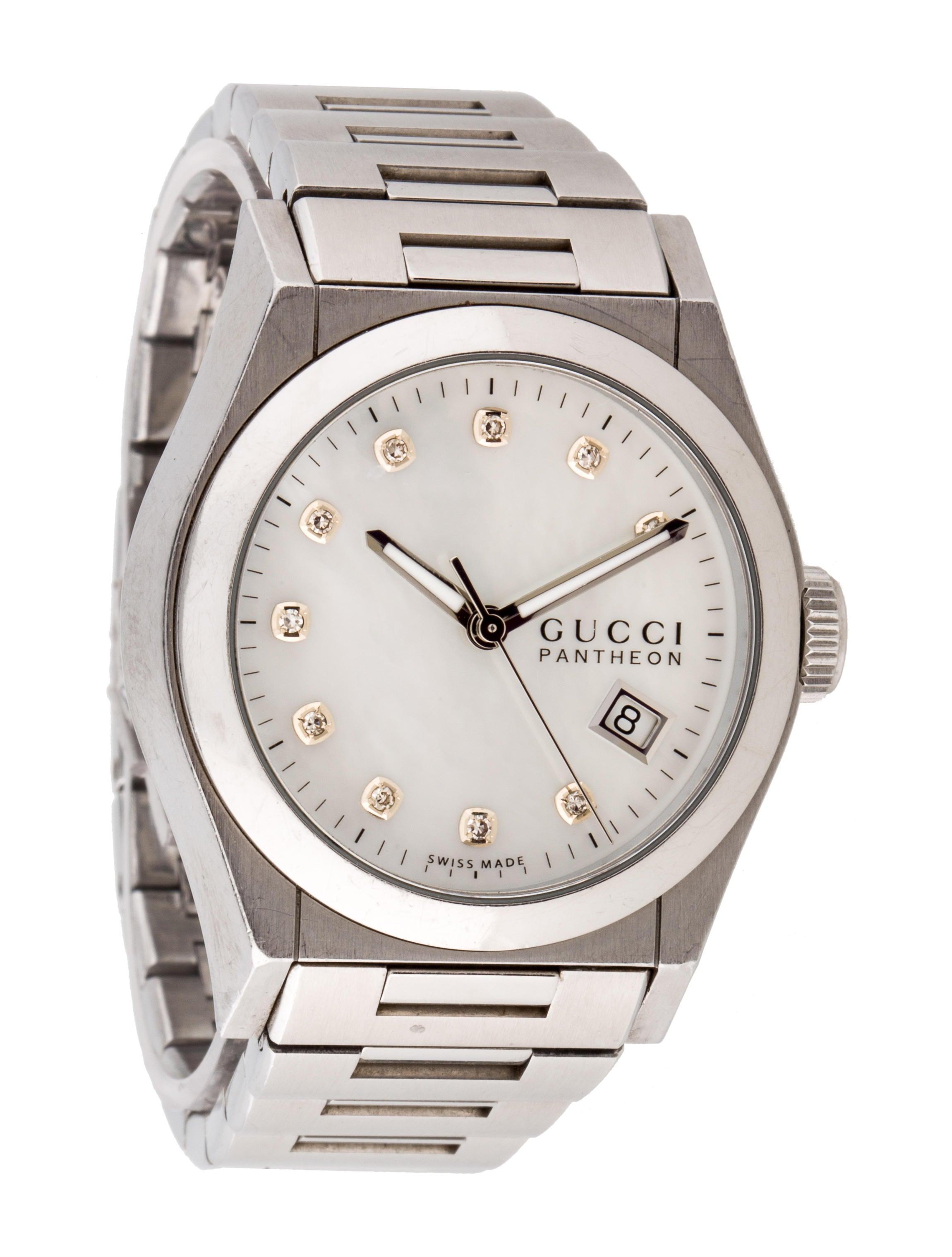 cd45a3bee77 Gucci Pantheon Diamond Watch - Bracelet - GUC67431