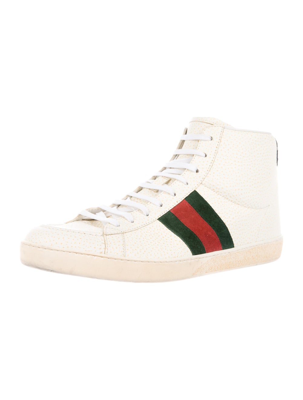 Gucci Web Accent Leather Sneakers - image 2
