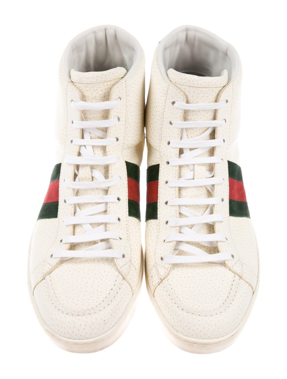 Gucci Web Accent Leather Sneakers - image 3