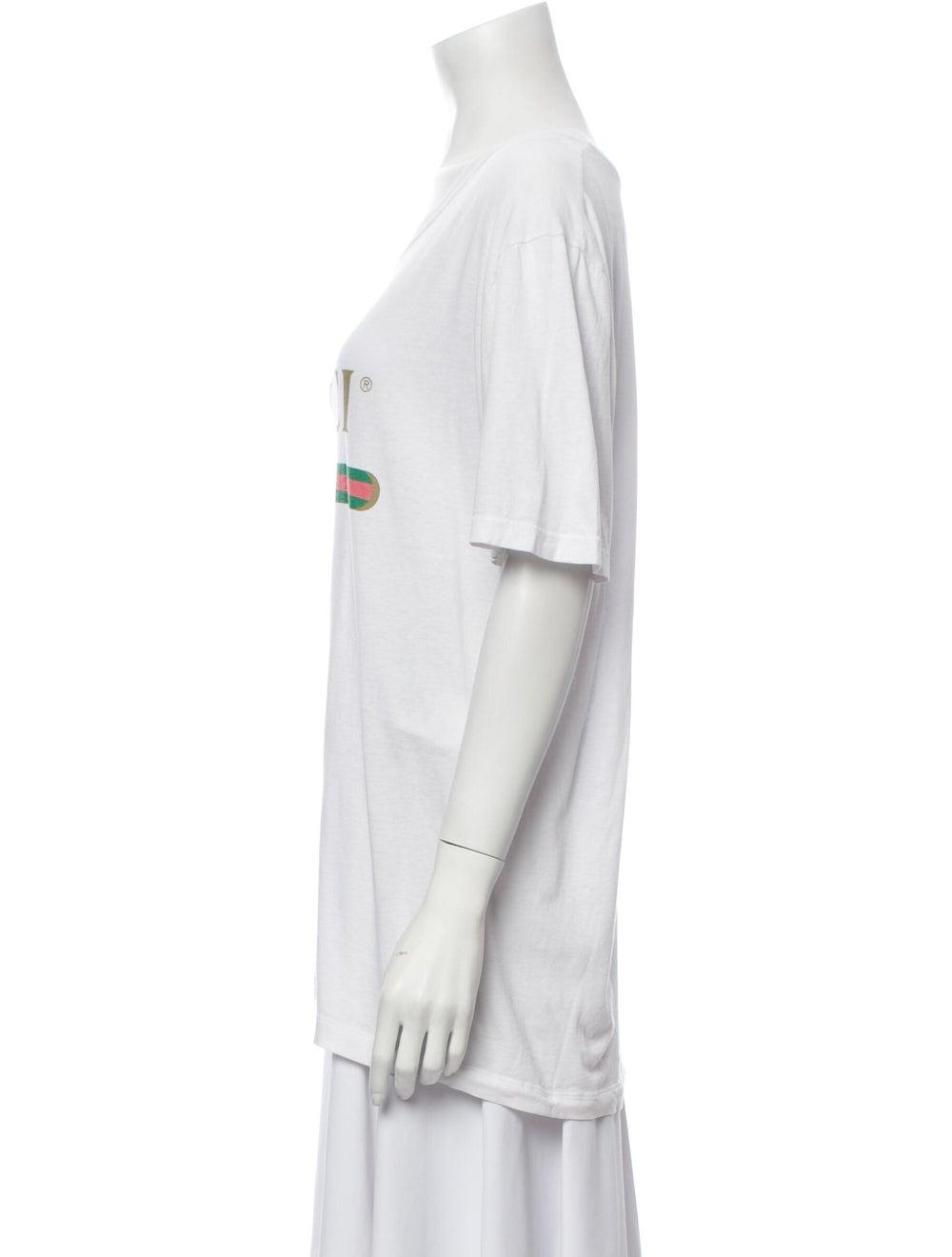 Gucci 2018 Oversize Vintage Logo T-Shirt White - image 2
