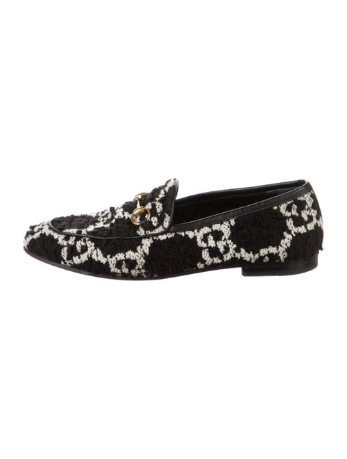 Gucci Horsebit Accent Patterned Loafers Black - image 1