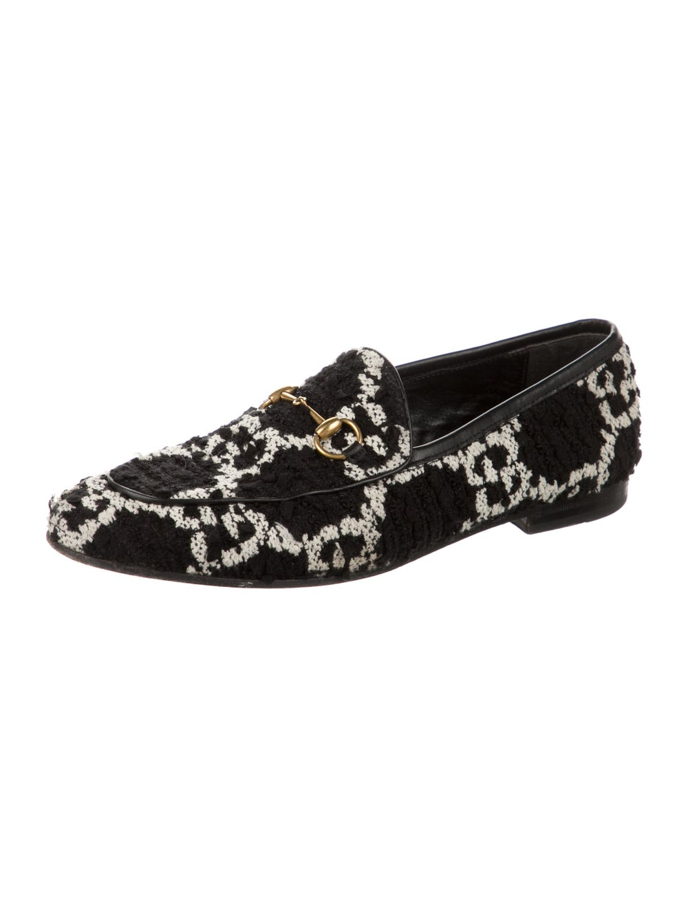 Gucci Horsebit Accent Patterned Loafers Black - image 2