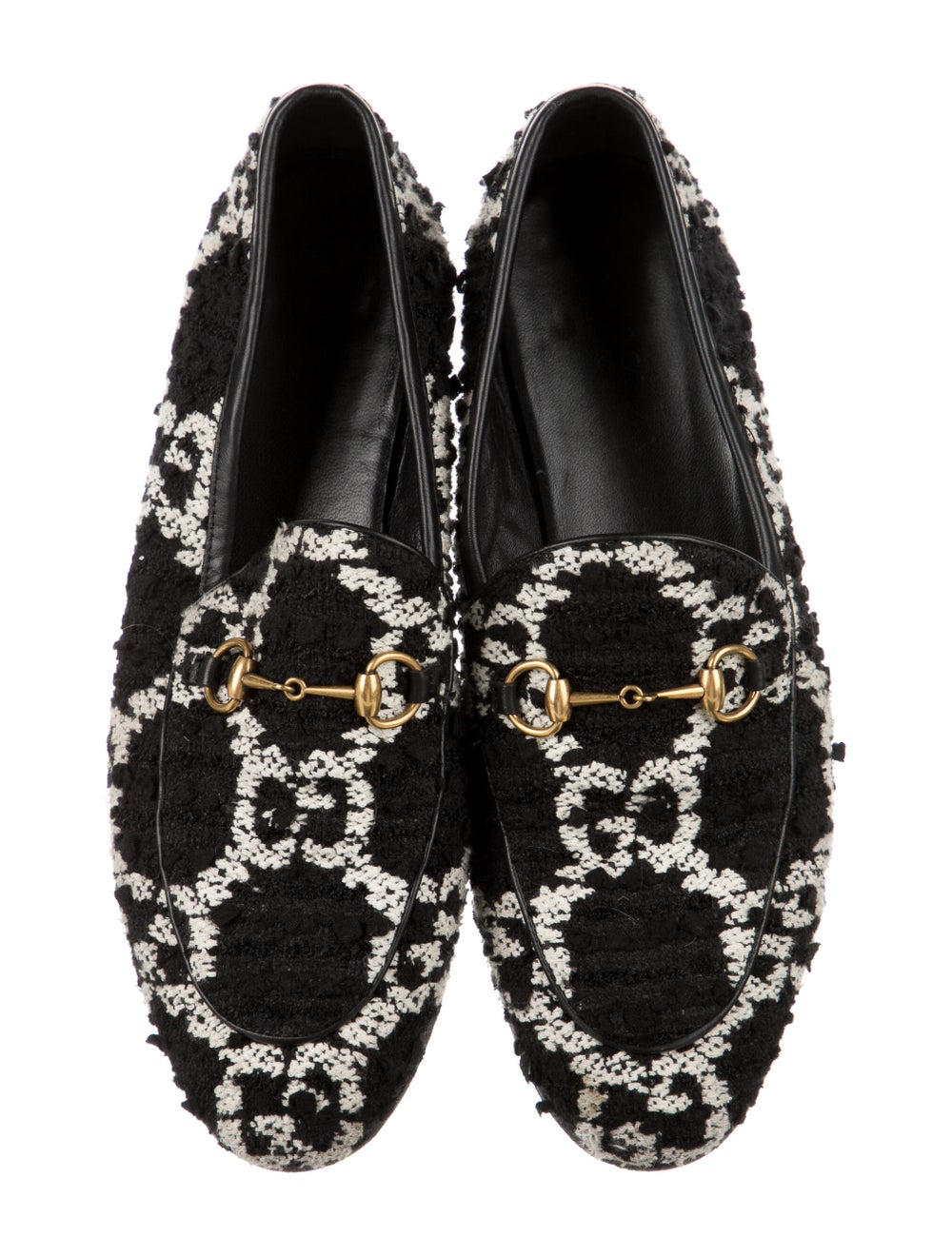 Gucci Horsebit Accent Patterned Loafers Black - image 3