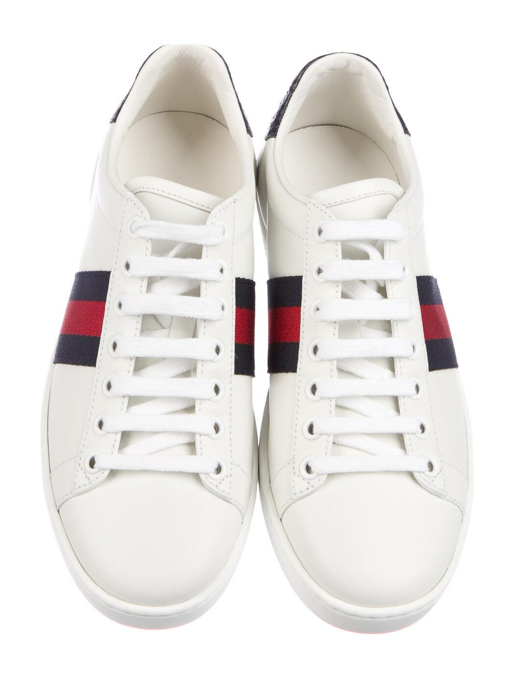 Gucci Sylvie Web Accent Leather Sneakers White - image 3
