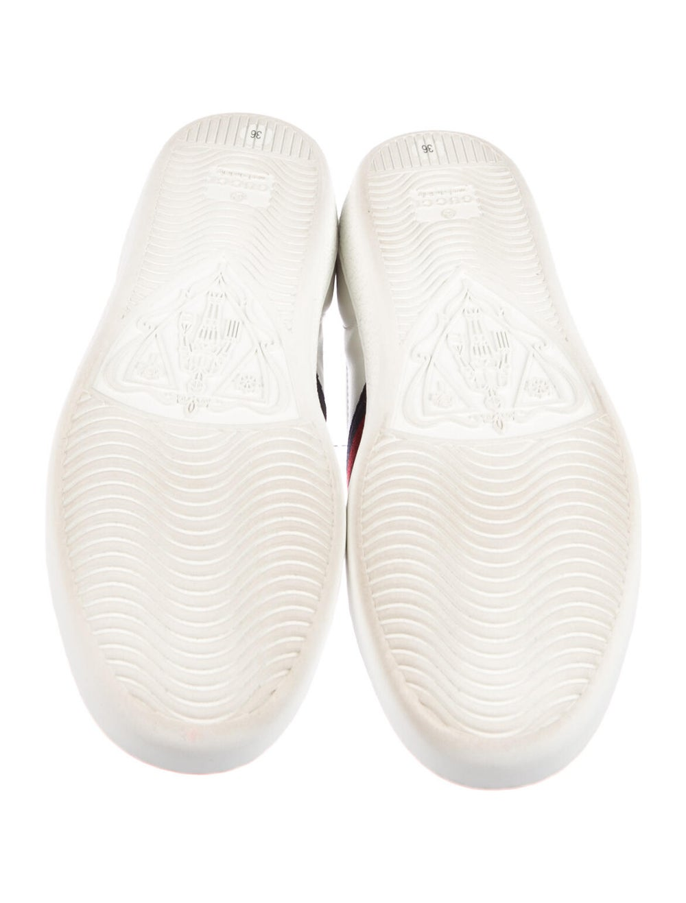 Gucci Sylvie Web Accent Leather Sneakers White - image 5