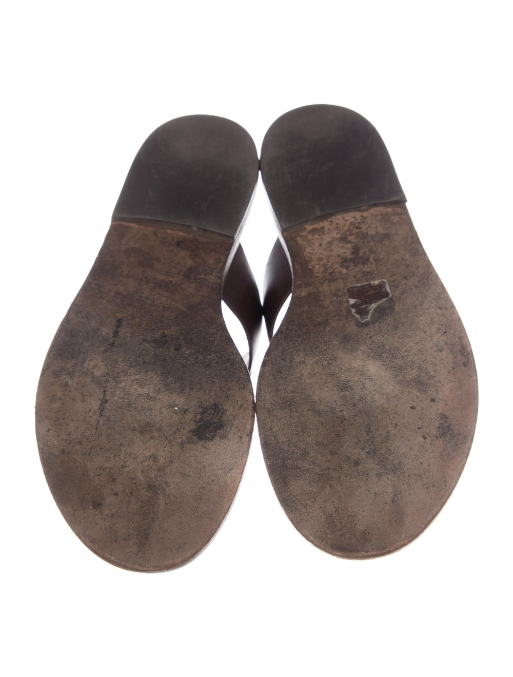 Gucci Horsebit Accent Leather Slides Brown - image 5