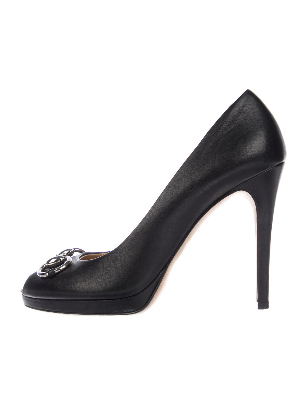 Gucci Horsebit Accent Leather Pumps Black - image 1