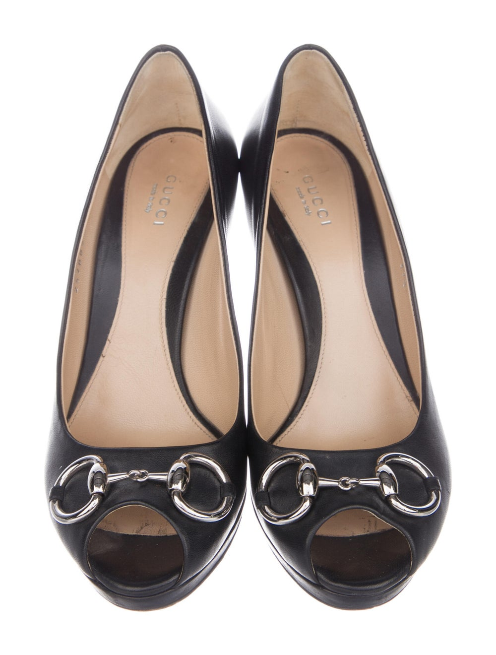 Gucci Horsebit Accent Leather Pumps Black - image 3
