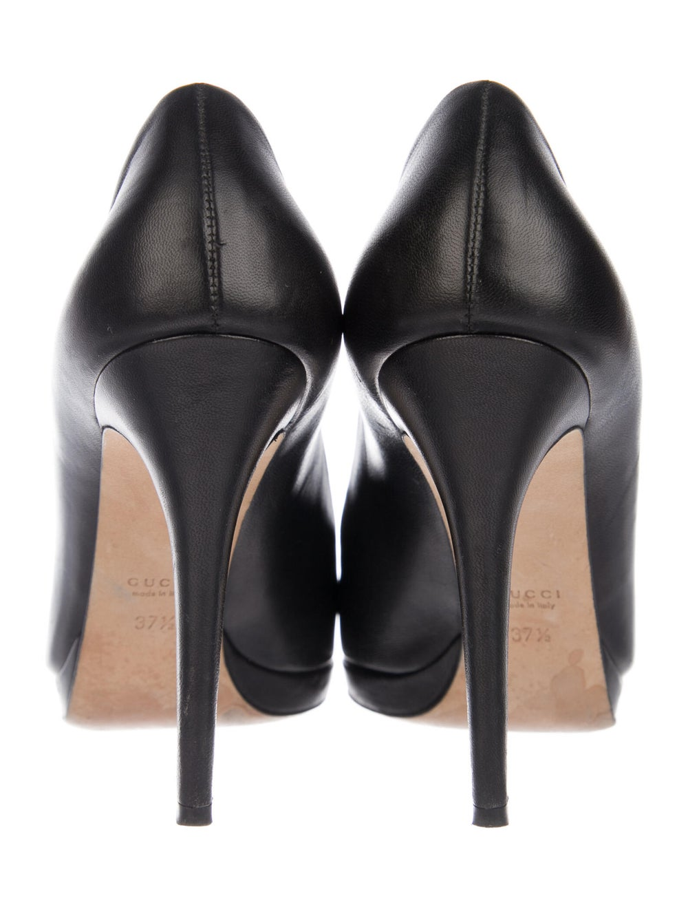 Gucci Horsebit Accent Leather Pumps Black - image 4