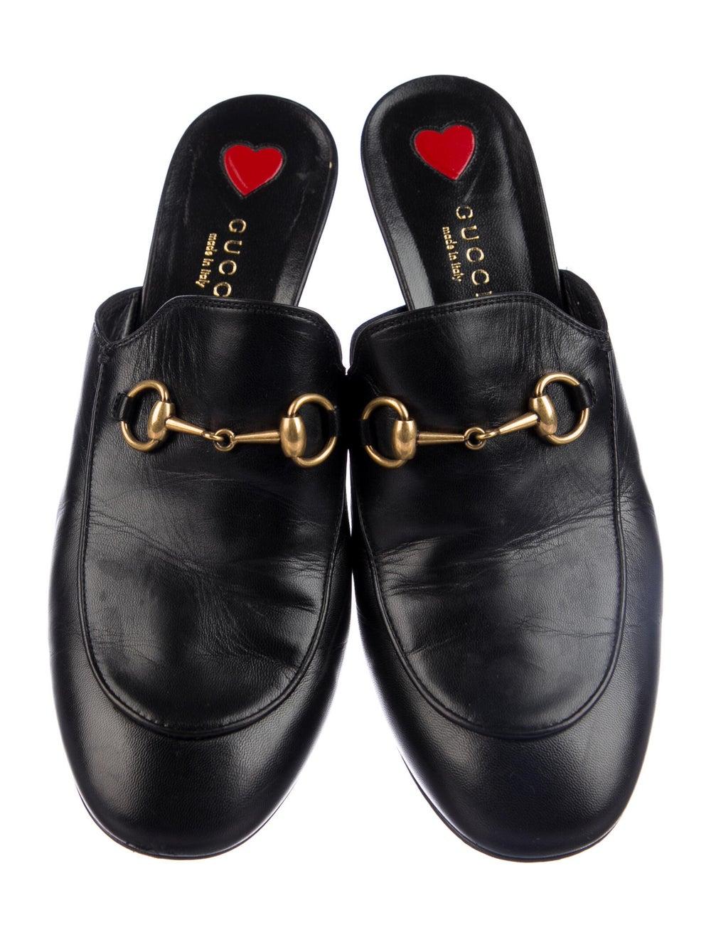 Gucci 1955 Horsebit Accent Leather Mules Black - image 3