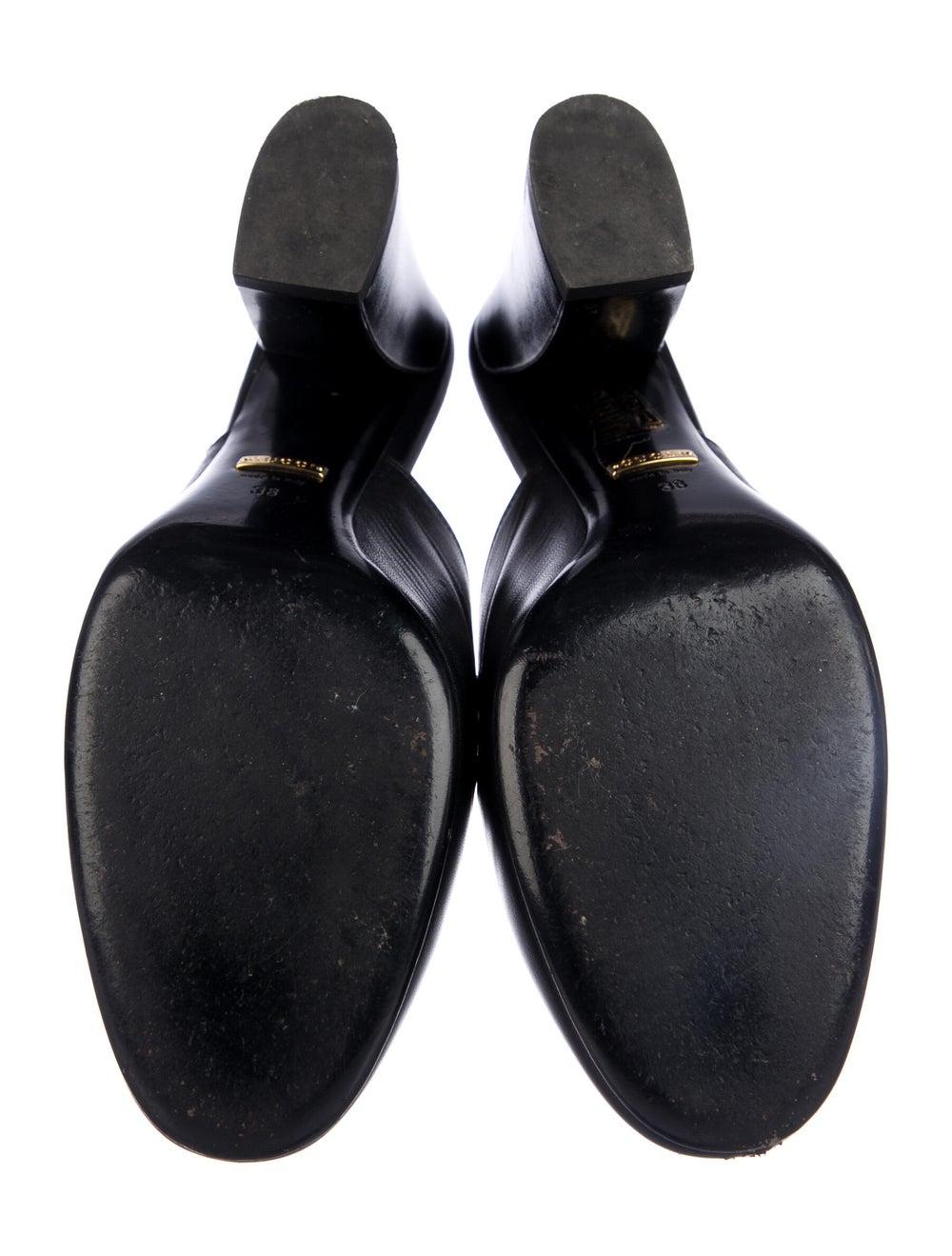 Gucci 1955 Horsebit Accent Leather Mules Black - image 5