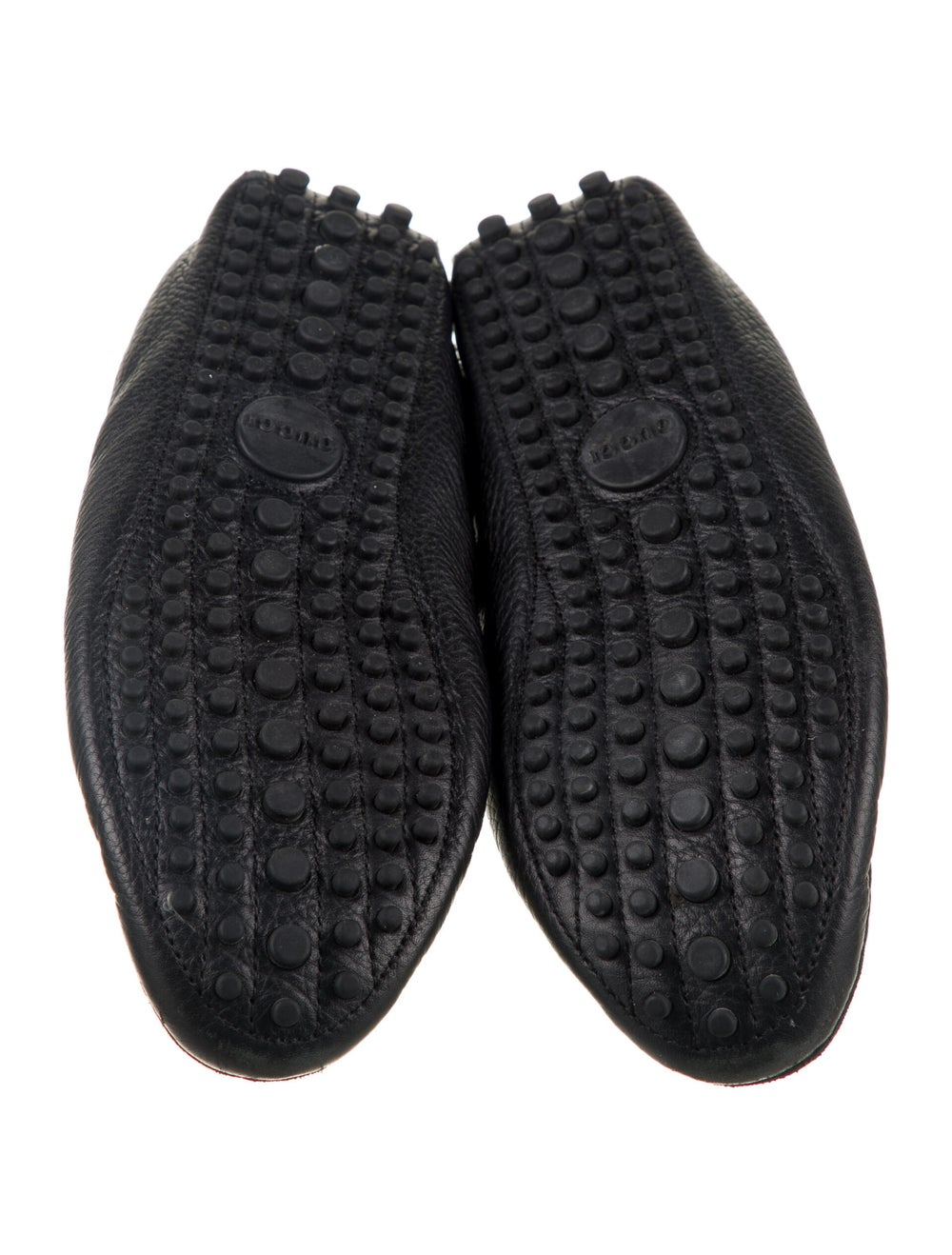 Gucci Web Accent Leather Loafers Black - image 5