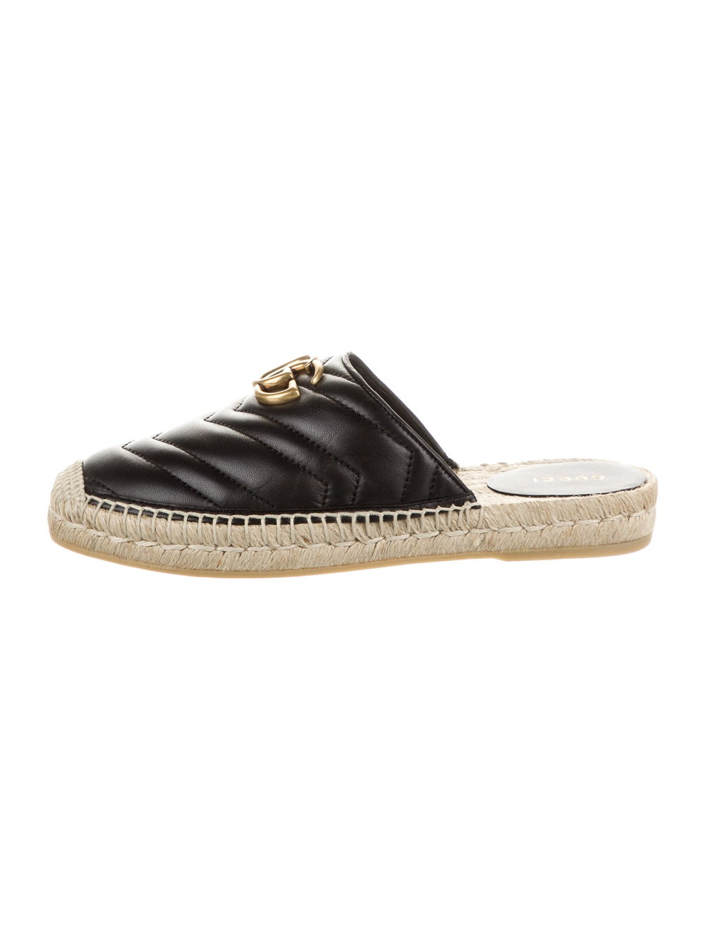 Gucci Double G Logo Leather Mules Black - image 1