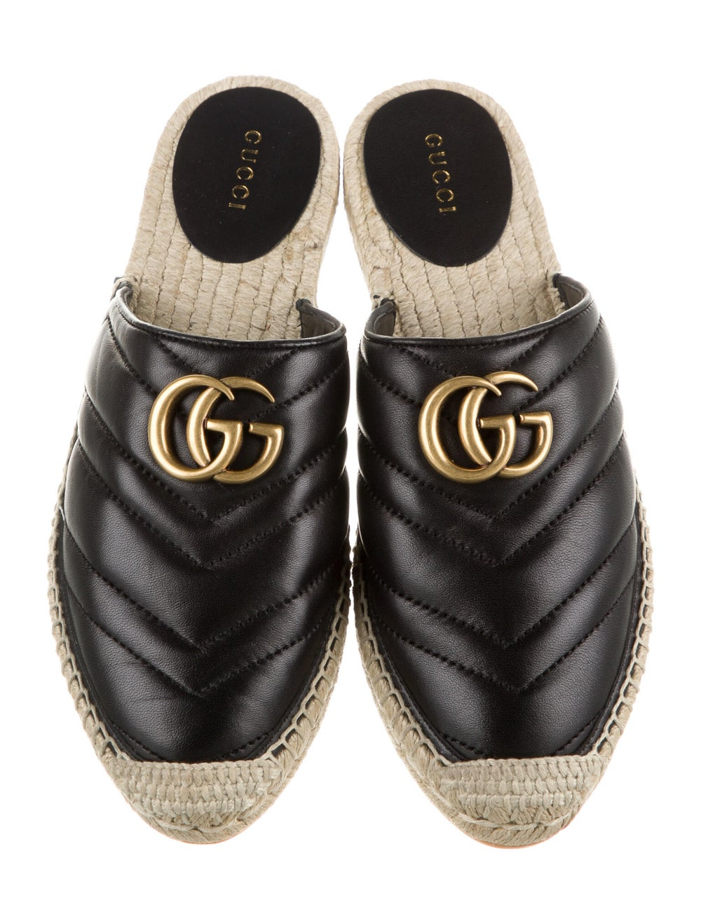Gucci Double G Logo Leather Mules Black - image 3