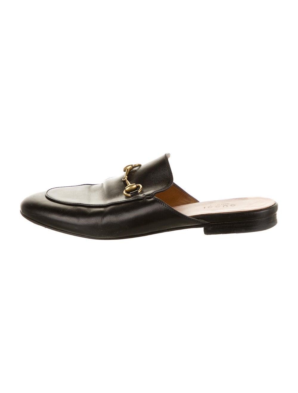 Gucci Horsebit Accent Leather Mules Black - image 1