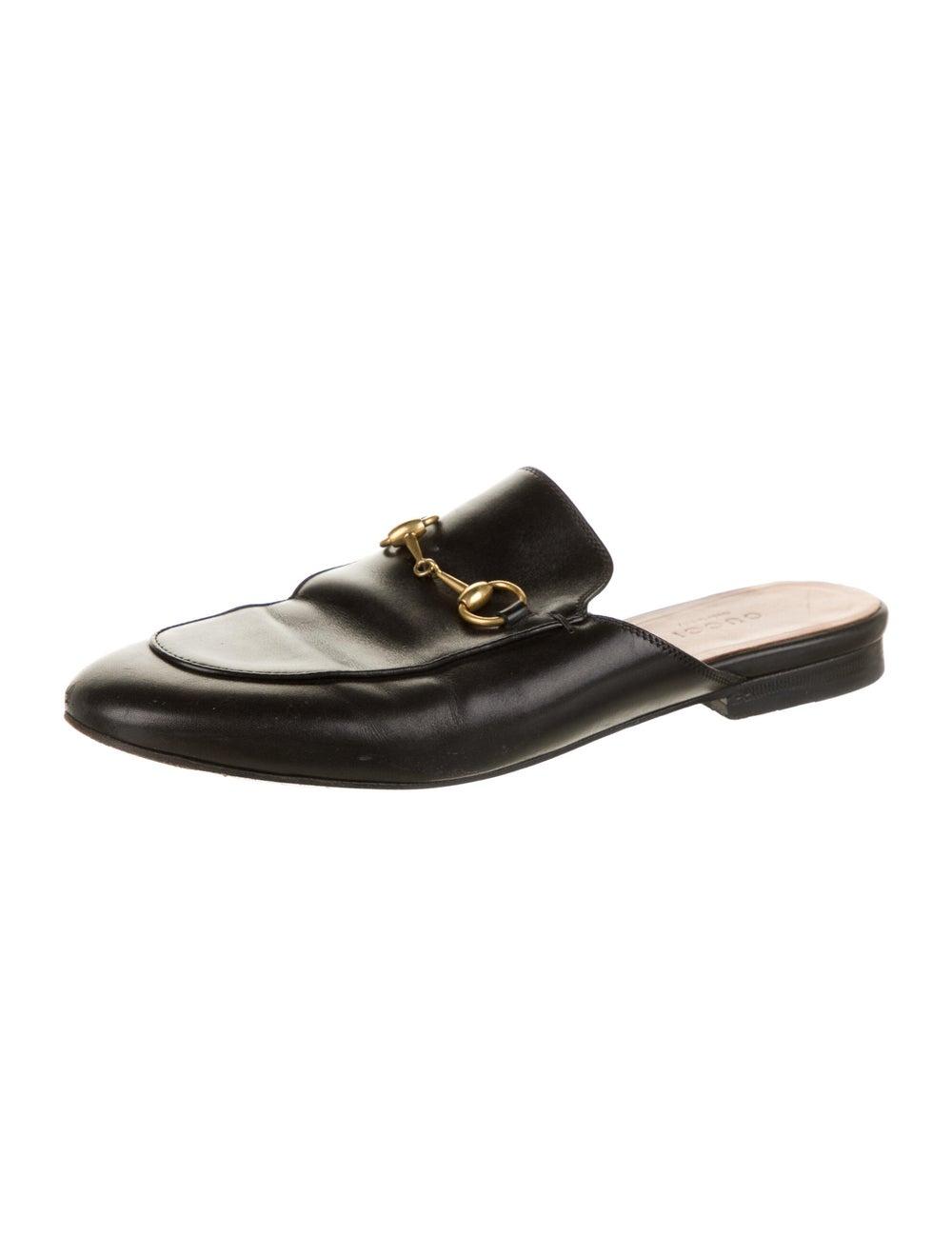 Gucci Horsebit Accent Leather Mules Black - image 2