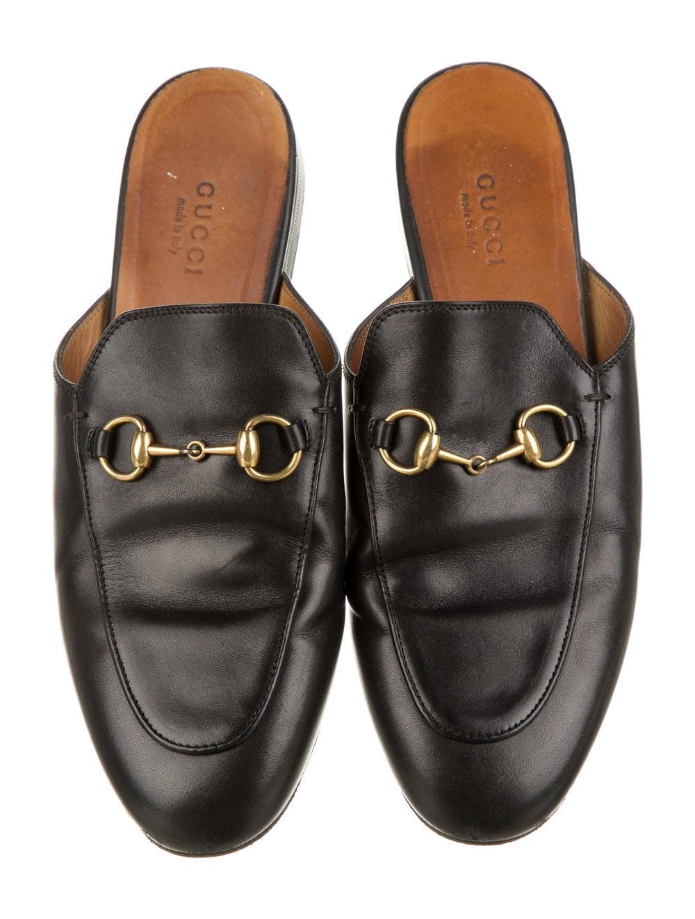 Gucci Horsebit Accent Leather Mules Black - image 3