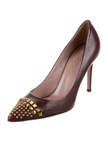 Gucci Leather Studded Accents Pumps