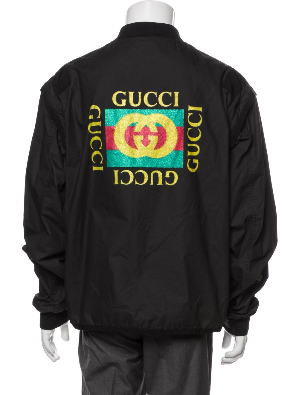 Gucci 2019 Bomber Jacket Black - image 3