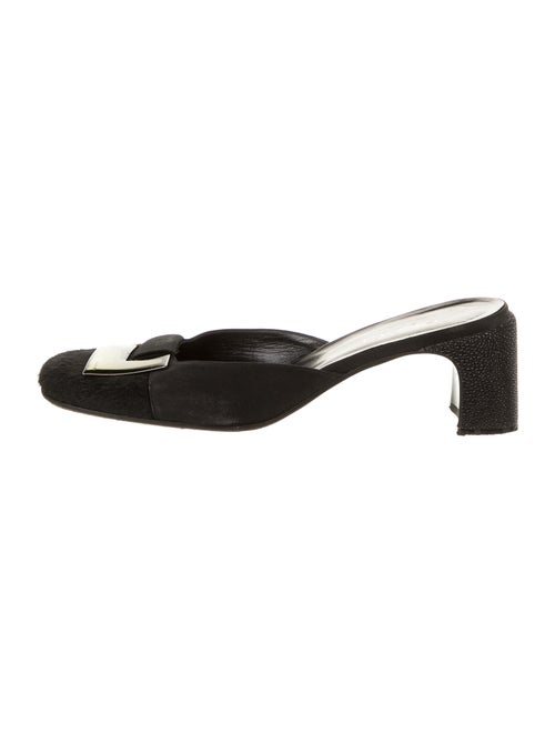 Gucci Leather Mules Black - image 1