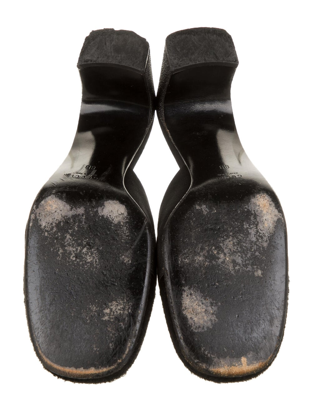 Gucci Leather Mules Black - image 3