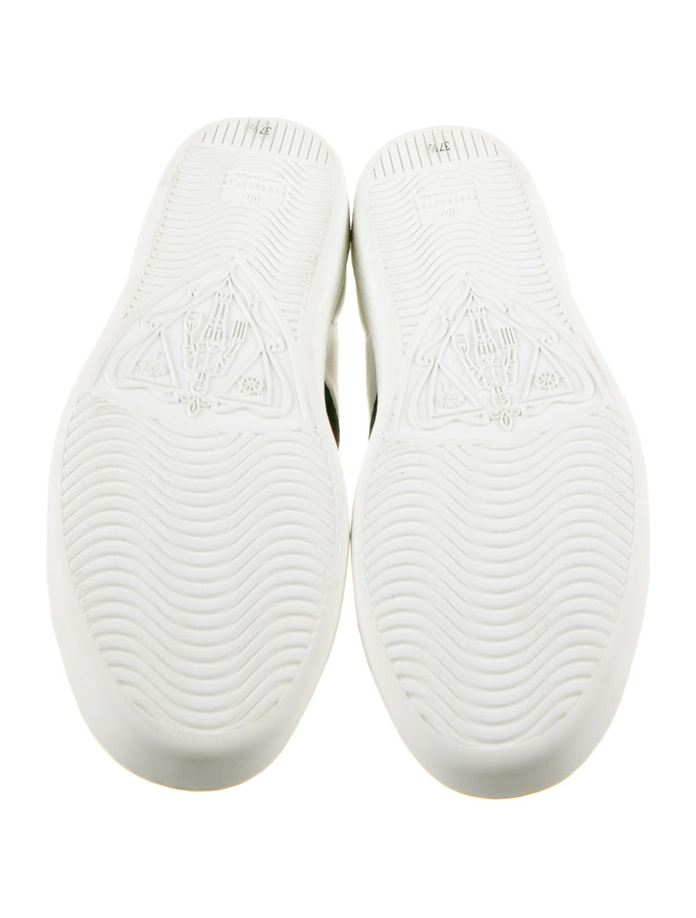 Gucci Web Accent Leather Sneakers White - image 5