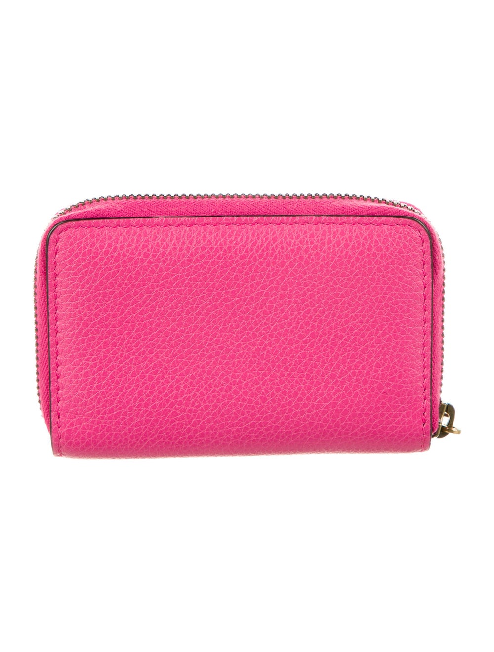 Gucci Web Accent Leather Compact Wallet Pink - image 4