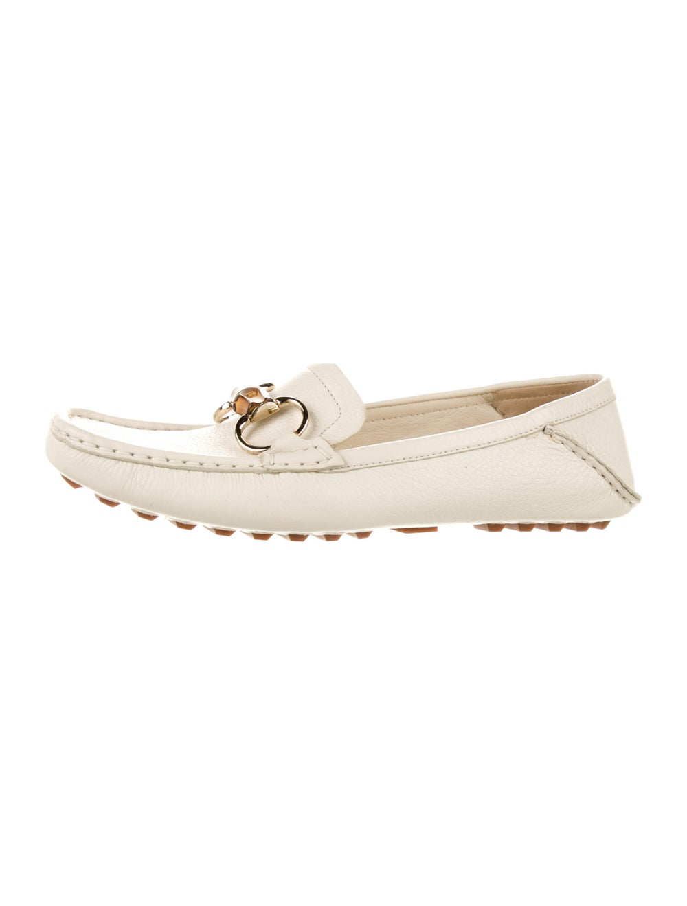 Gucci Horsebit Accent Leather Loafers White - image 2