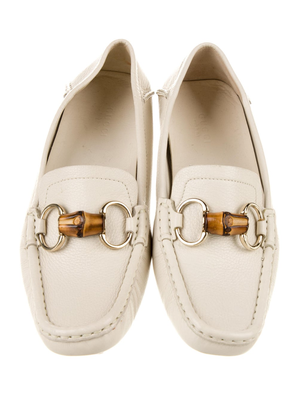 Gucci Horsebit Accent Leather Loafers White - image 3