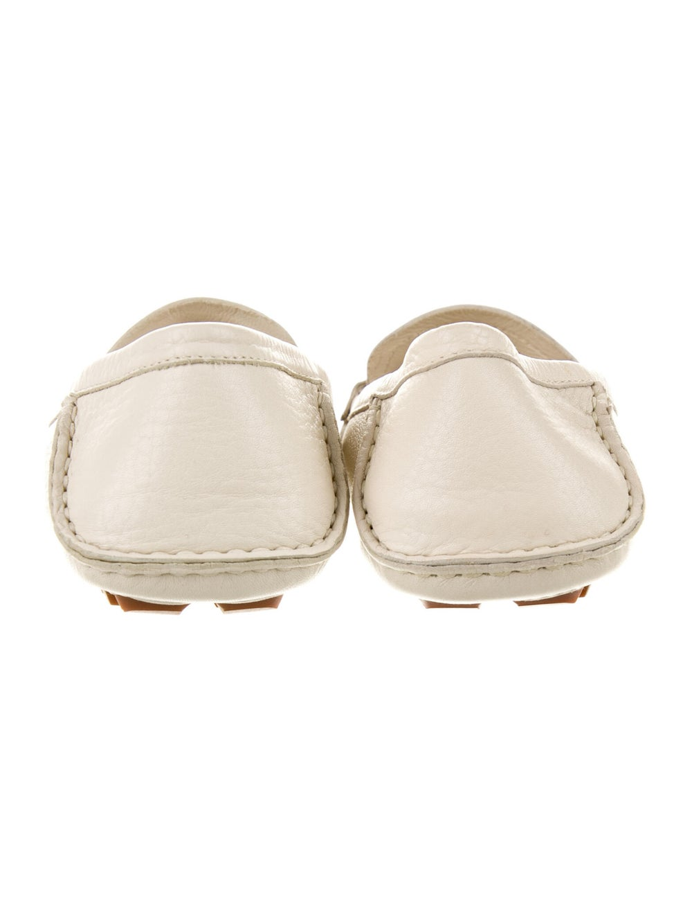 Gucci Horsebit Accent Leather Loafers White - image 4