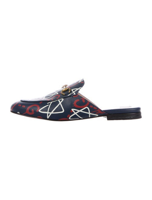 Gucci GucciGhost Princetown Horsebit Accent Mules… - image 1