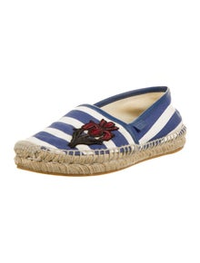 Gucci Printed Embroidered Accent Espadrilles