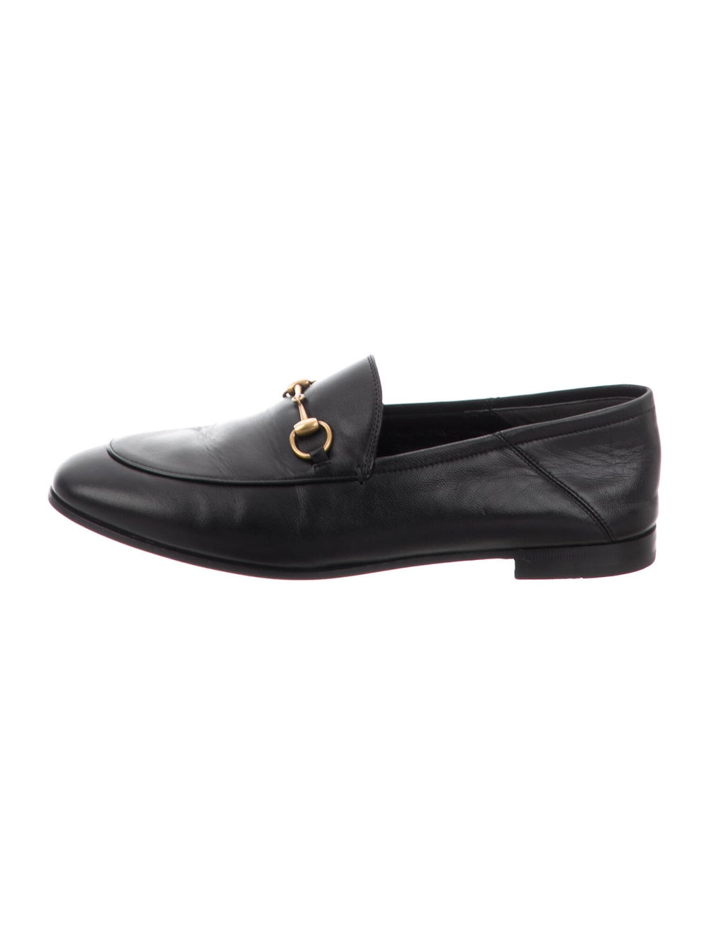 Gucci Horsebit Accent Leather Loafers Black - image 1