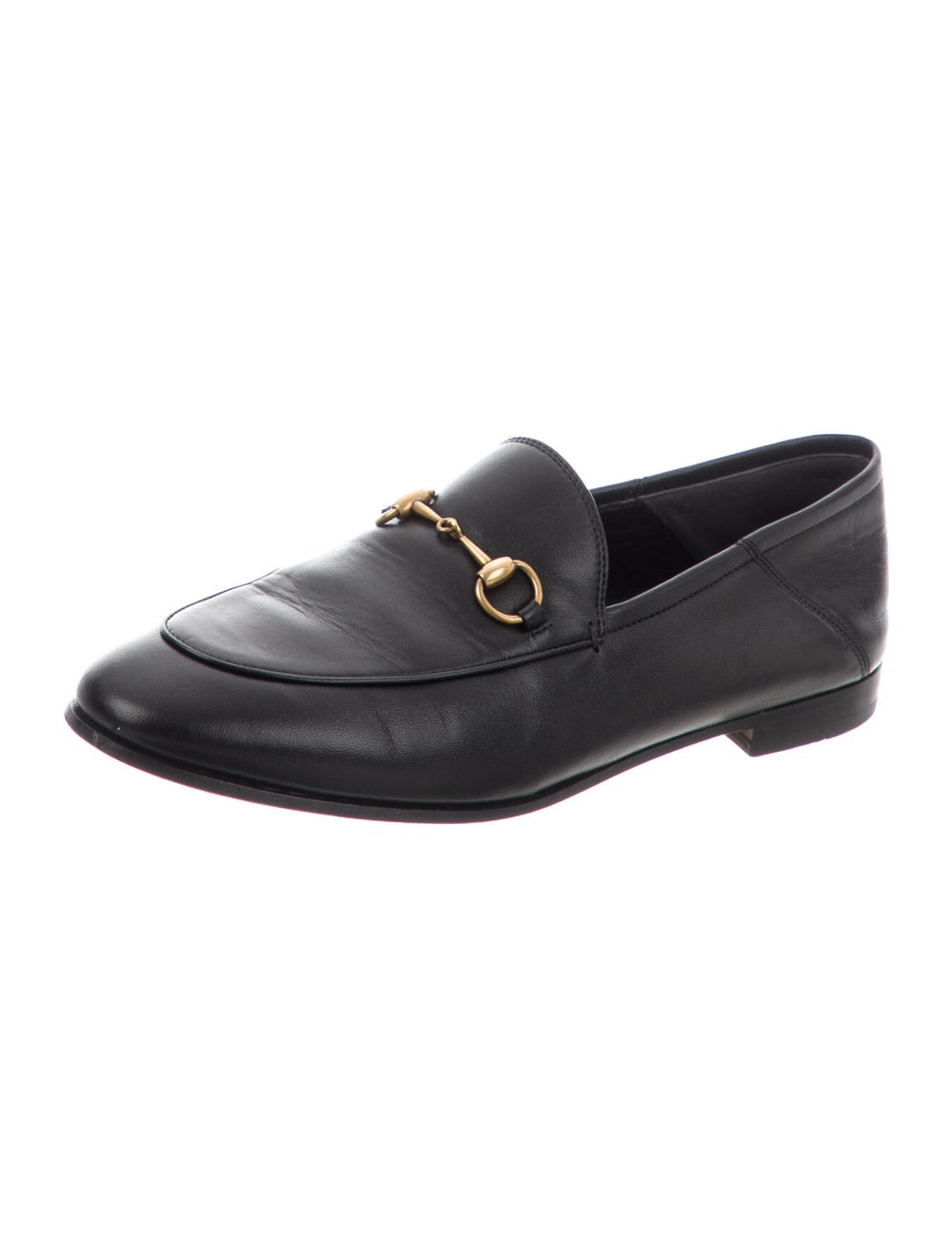 Gucci Horsebit Accent Leather Loafers Black - image 2