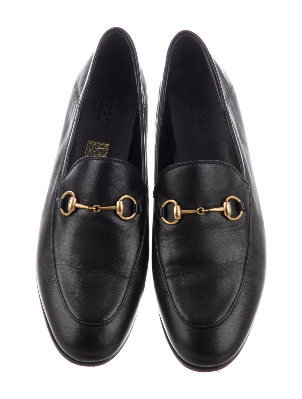 Gucci Horsebit Accent Leather Loafers Black - image 3
