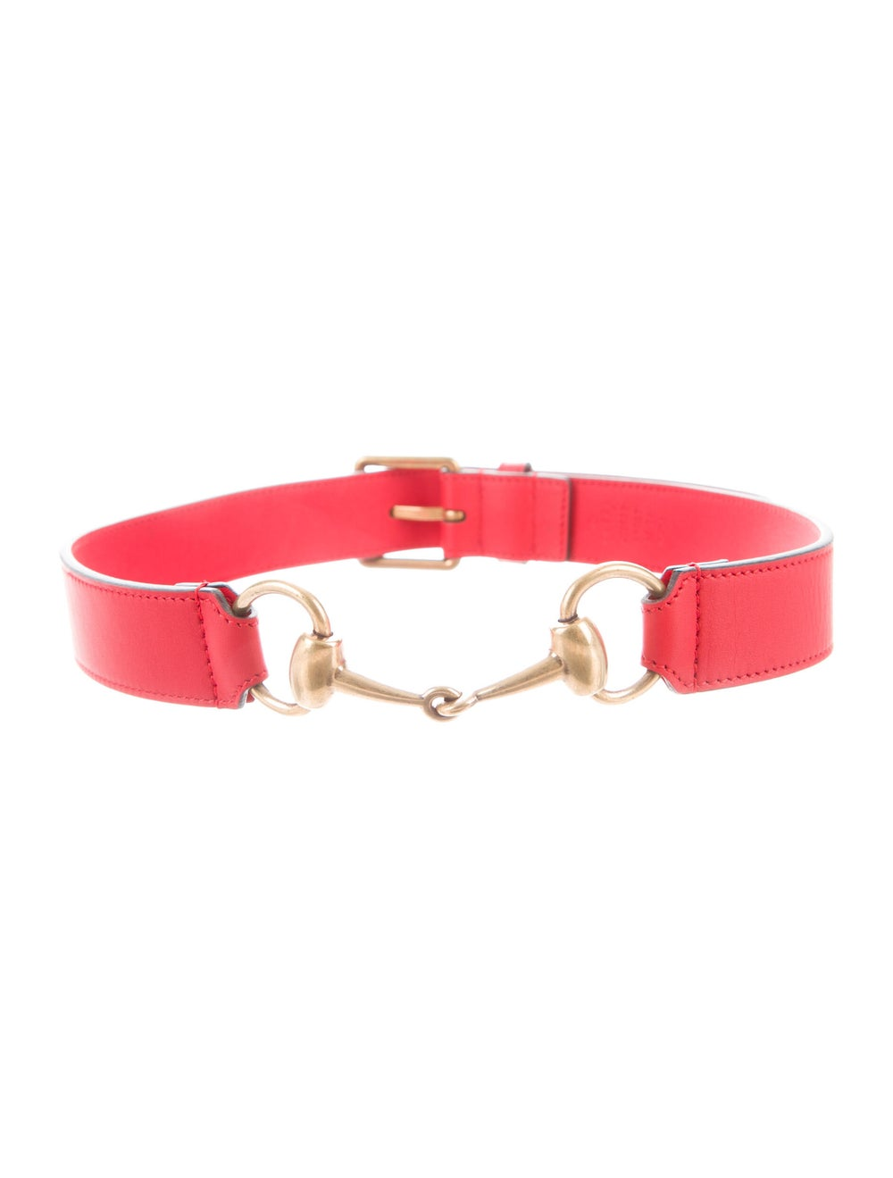 Gucci Horsebit Accent Leather Belt Red - image 2