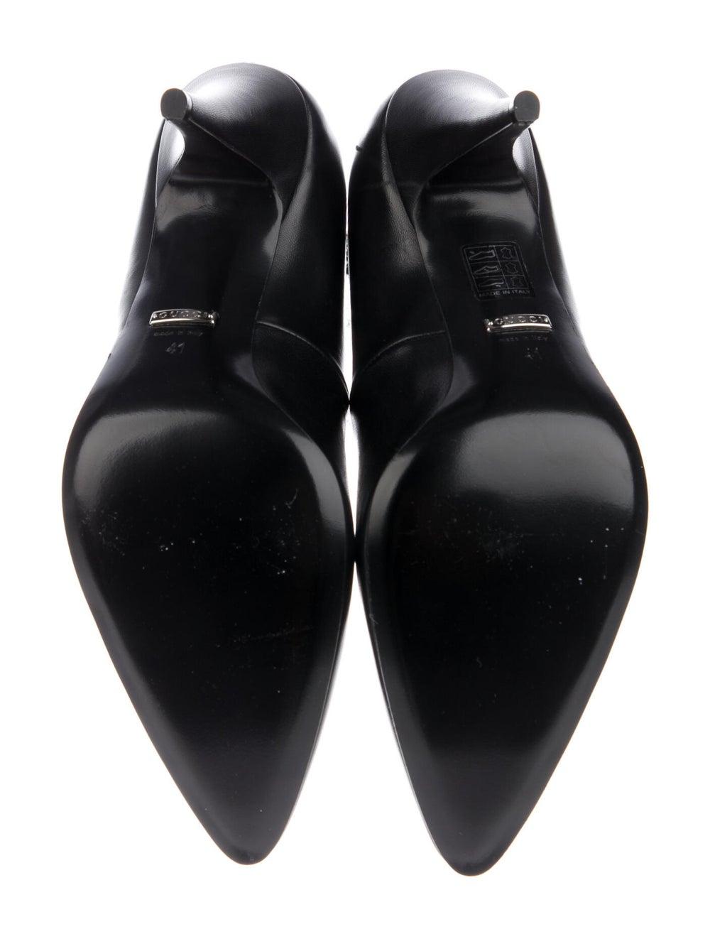 Gucci Leather Crystal Embellishments Pumps Black - image 5