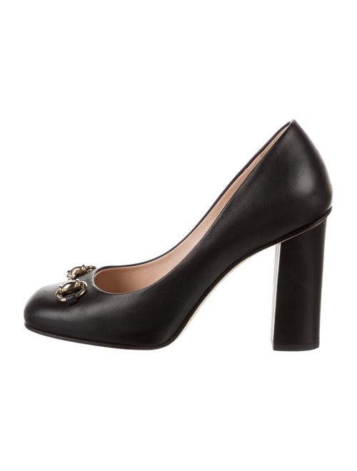 Gucci Horsebit Accent Leather Pumps Black - image 1