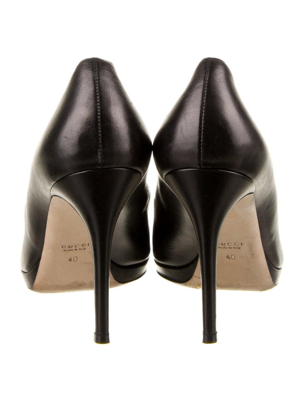 Gucci Horsebit Accent Leather Pumps Black - image 4