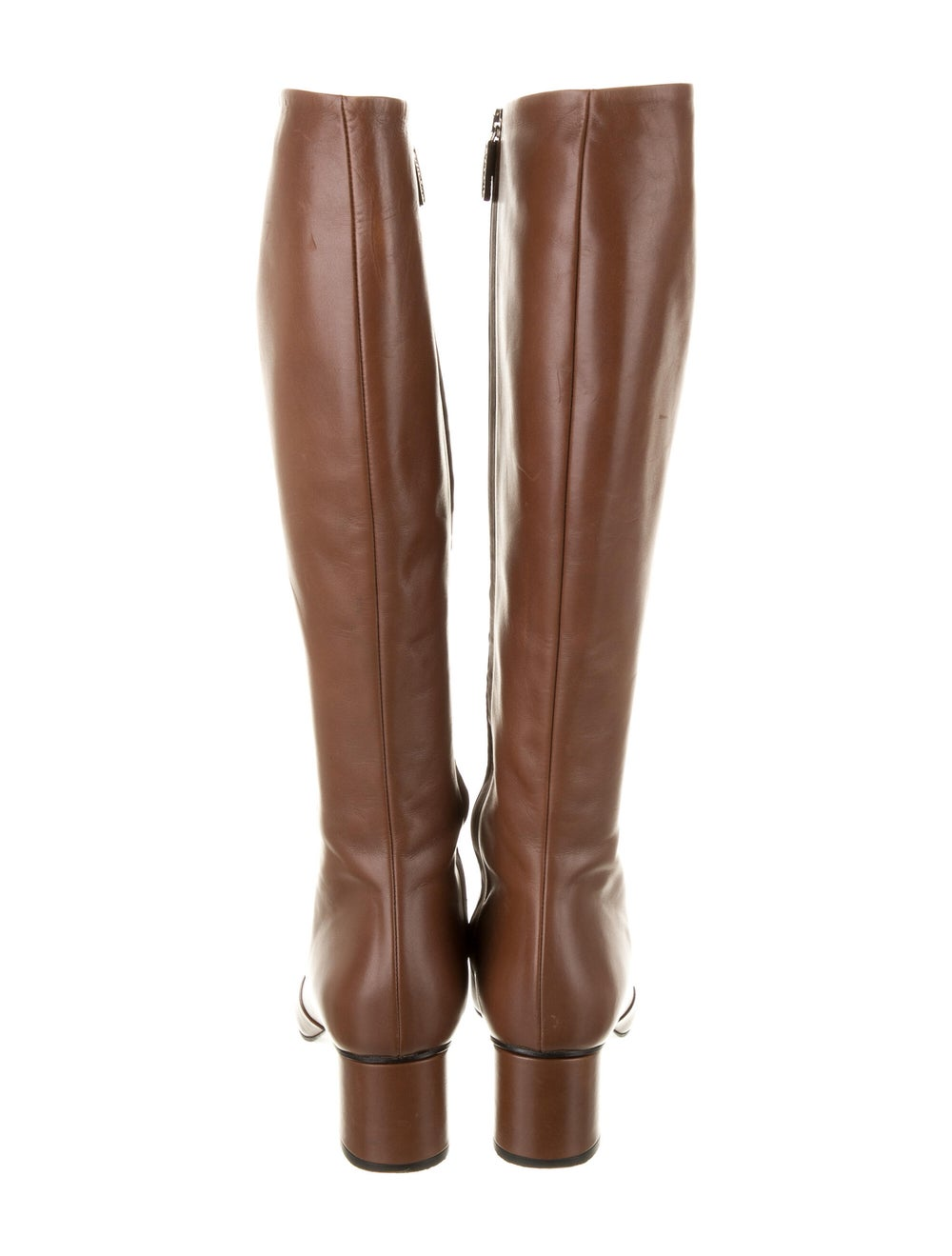 Gucci Horsebit Accent Leather Riding Boots Brown - image 4