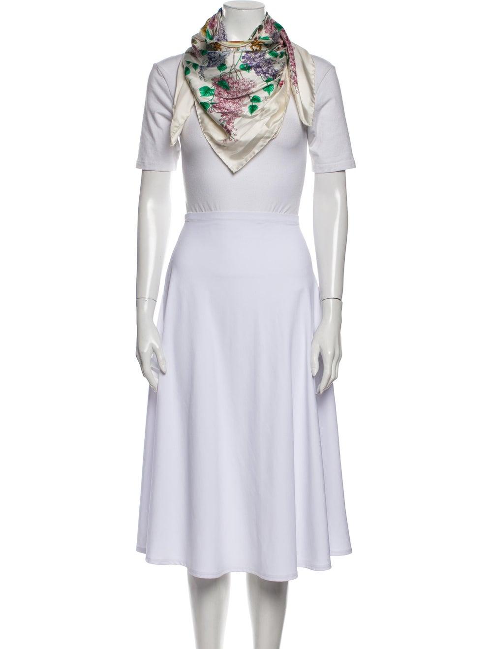 Gucci Silk Floral Print Scarf White - image 3