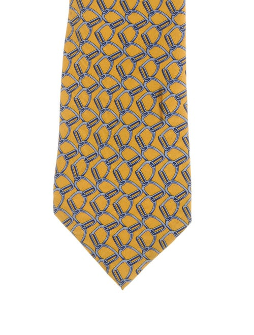 Gucci Patterned Silk Tie yellow
