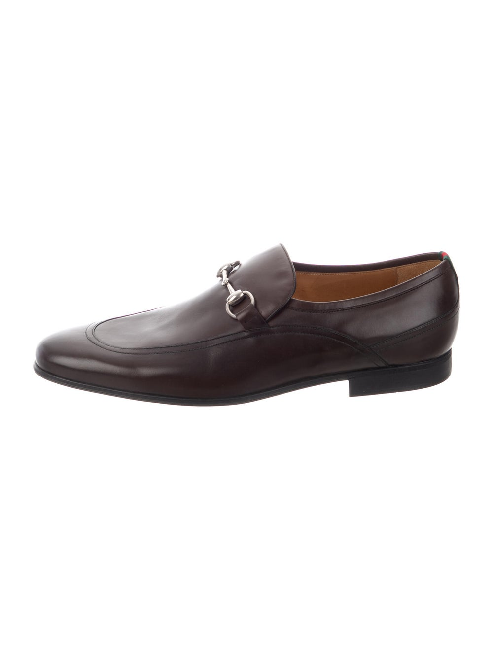 Gucci Horsebit Accent Leather Dress Loafers Brown - image 1