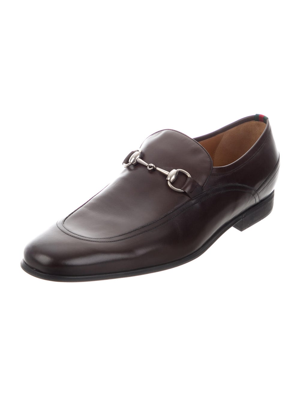 Gucci Horsebit Accent Leather Dress Loafers Brown - image 2