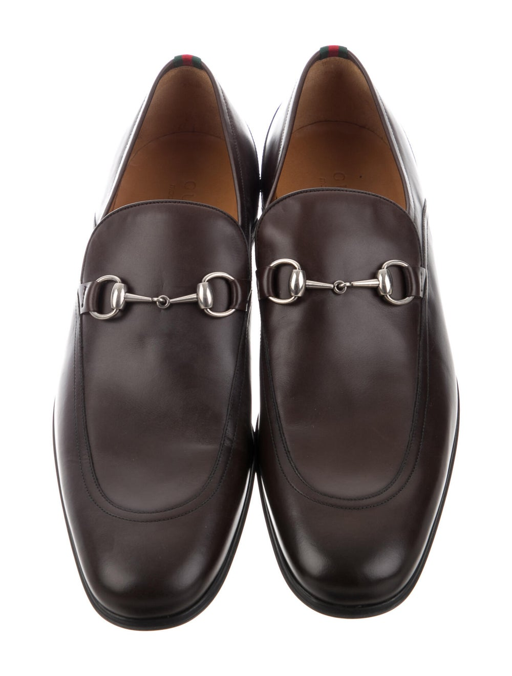 Gucci Horsebit Accent Leather Dress Loafers Brown - image 3