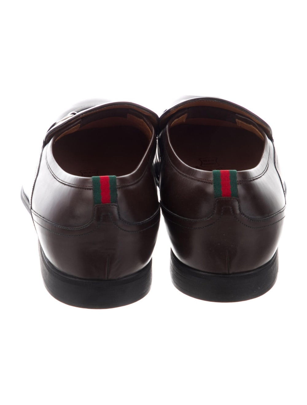 Gucci Horsebit Accent Leather Dress Loafers Brown - image 4